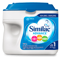 Similac® Advance® Step 1  non-GMO baby formula in a 658g powder pack
