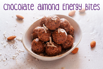 Chocolate Almond Energy Bites - Healthy Food Recipes for Kids