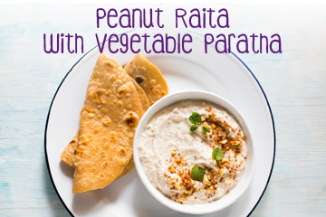 Peanut Raitha With Vegetable Paratha - Healthy Food Recipes for Kids